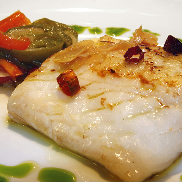 Grilled cod with our sauce
