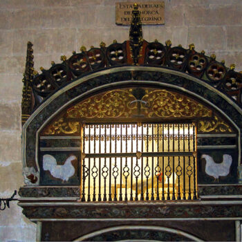 Chicken coop in the Cathedral of Santo Domingo de la Calzada