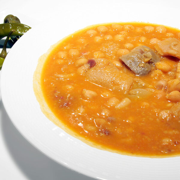 Chick-peas with meat